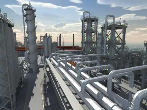 Oil Refinery FlyOver