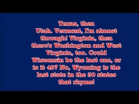 Me Singing 50 States that Rhyme