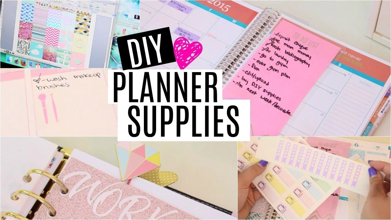photo relating to Planner Supplies identified as Do-it-yourself Planner Elements