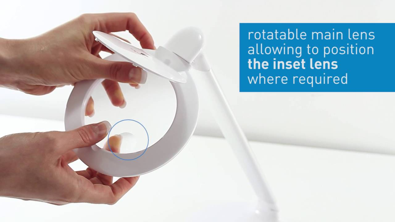 HALO LED Table Magnifier Daylight - compact and portable magnifier