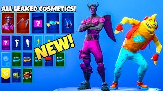 ALL *NEW* LEAKED FORTNITE SKINS & EMOTES..! (DARK Love Ranger, Daydream, Ice Cream man)