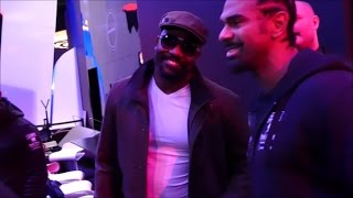 (EPIC) DAVID HAYE REUNITES WITH DERECK CHISORA; JOKE ABOUT OUTCOME OF TONY BELLEW CLASH