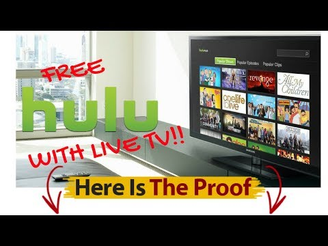 FREE HULU WITH LIVE TV. WORKS EVERY TIME!!