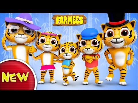 Tiger Finger Family | Tiger Song | Nursery Rhymes | Kids Songs With | Baby Rhymes by Farmees