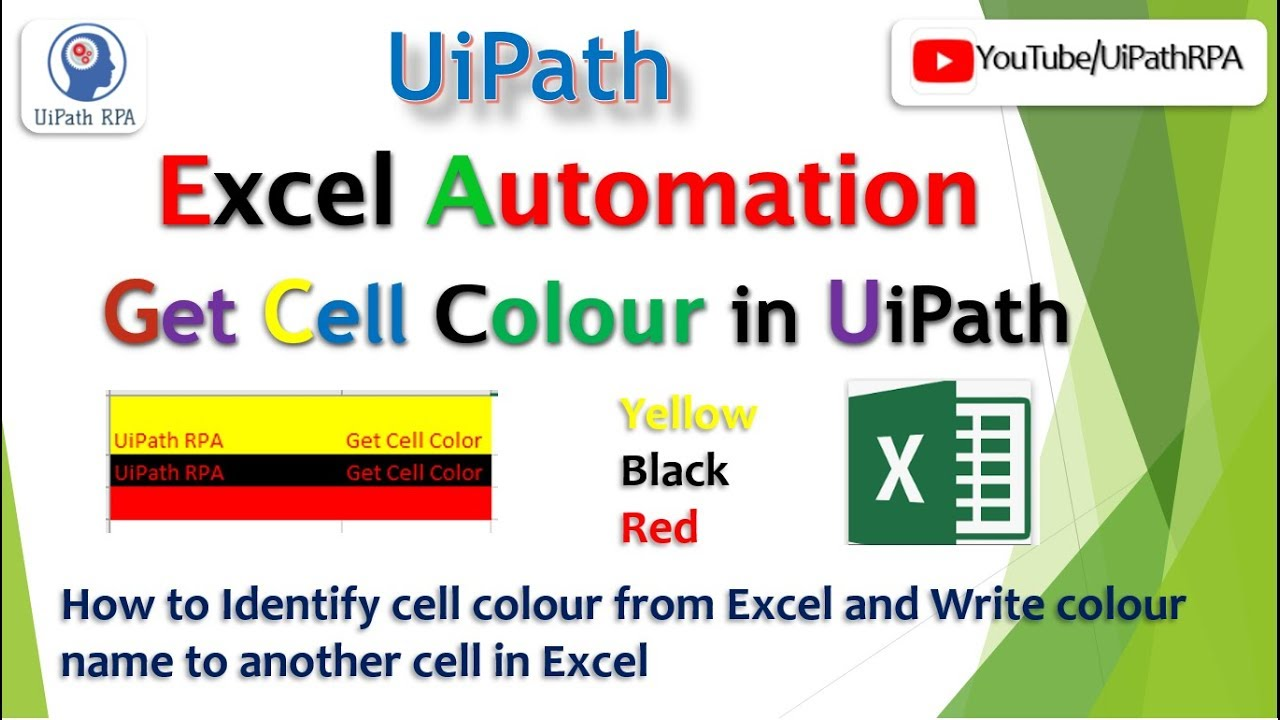 Get Cell Color||Excel Automation||UiPath RPA Tutorial