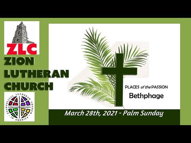 Service - 20210328 - Palm Sunday