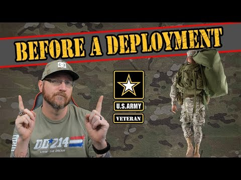 What Happens Before A Deployment In The Army