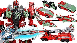 Transformers Generations Combiner Wars Victorion 6 combine: fire truck, motorcycle - DuDupopTOY