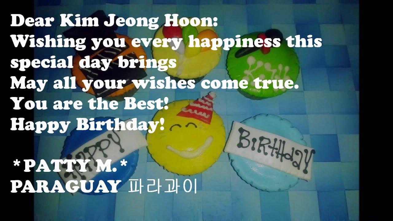 Happy Birthday Dear Kim Jeong Hoon 2014