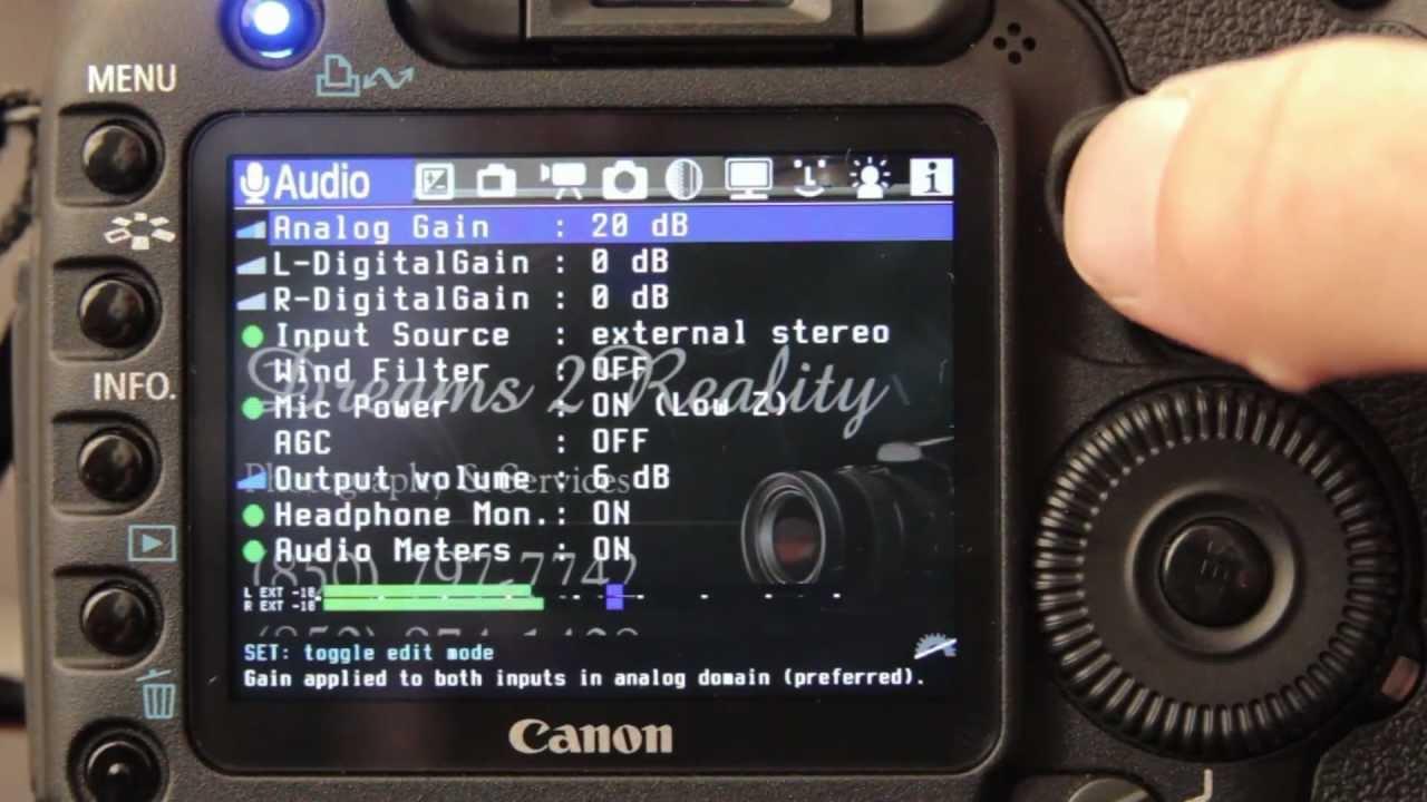 Magic Lantern Amp The Canon 5d Mark Ll Adjusting Audio