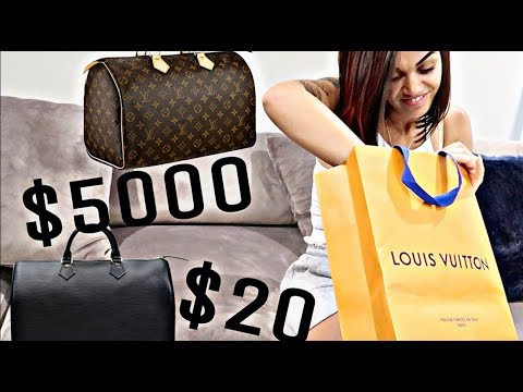 """BOUGHT FAKE LOUIS VUITTON"" PRANK ON WIFE!! (GOLD DIGGER TEST)"