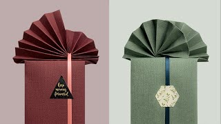 禮物包裝 | 給禮物盒做個扇形禮物包裝-Gift Wrapping