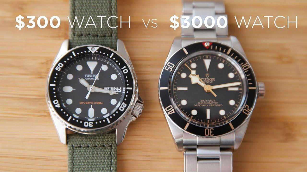 300 Watch Vs 3000 Watch Seiko Skx013 Vs Tudor Black Bay 58 Youtube
