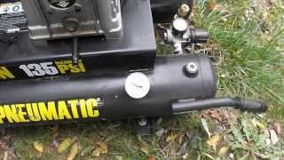central pneumatic gas 9 gallon air compressor