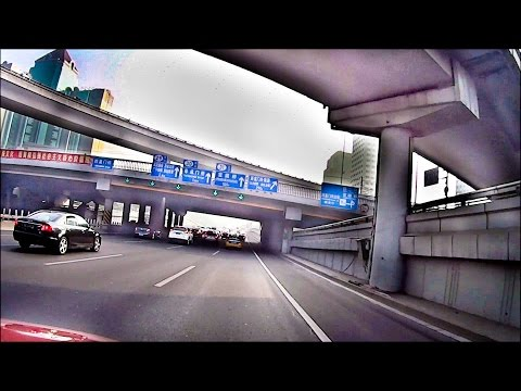 Shanghai Vlog - Beijing second ring road. Heavy trafic and hazardous pollution