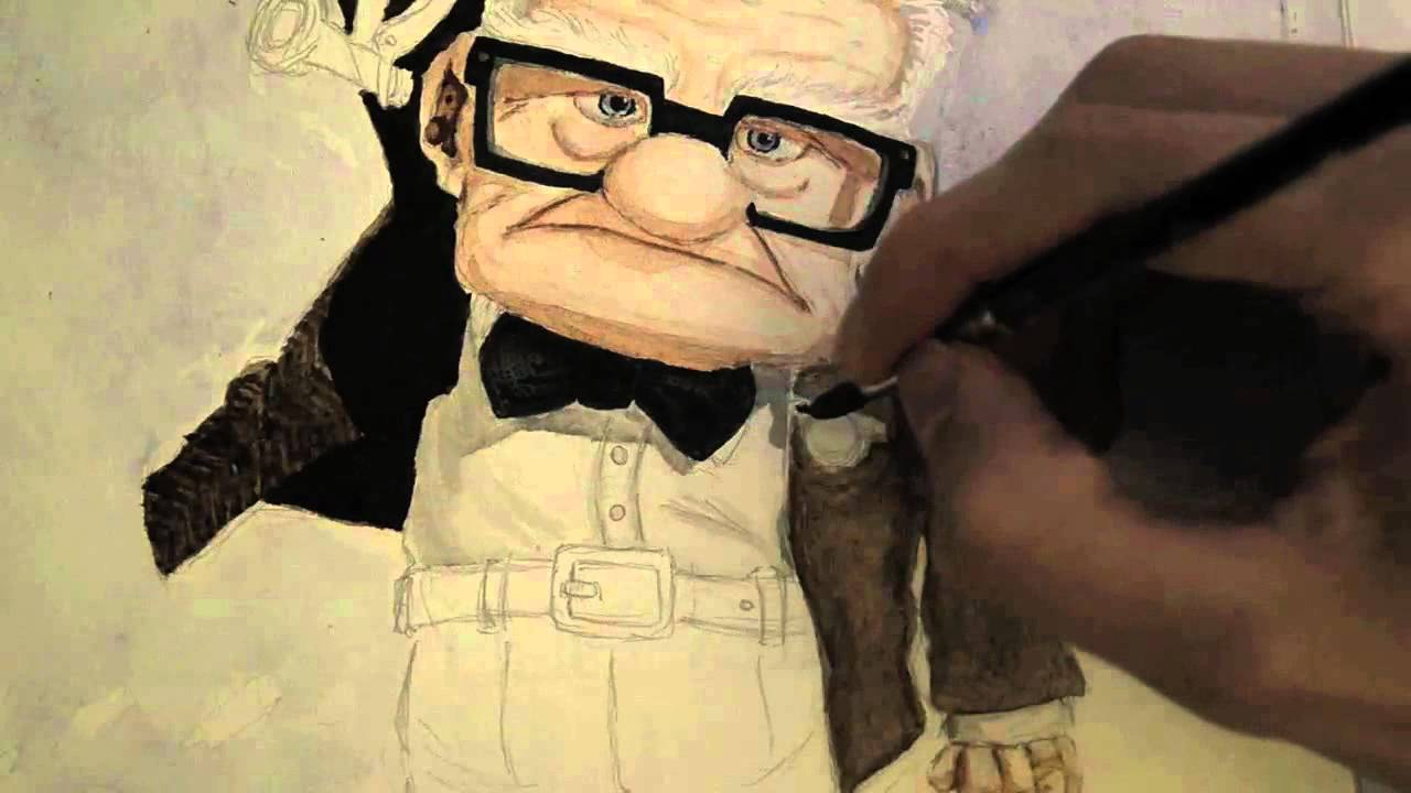 Speed Painting - Disney Pixar Movie UP - YouTube