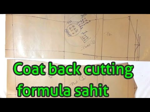 Coat back cutting formula sahit