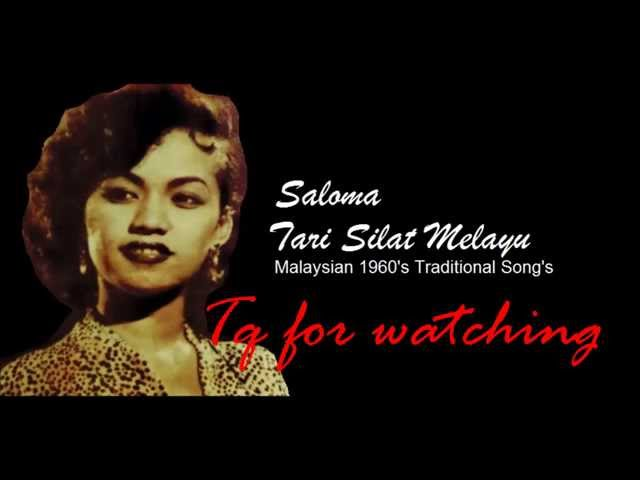 Tari Silat Melayu by Saloma (Malay 1960's Traditional Song's) 'Lyrics' HD Travel Video