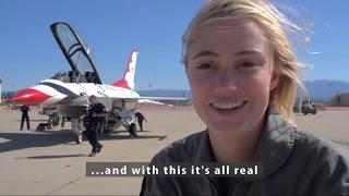 Maika Monroe Flies with the US Air Force Thunderbirds