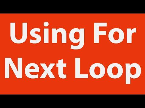 Using For Loop - Excel VBA