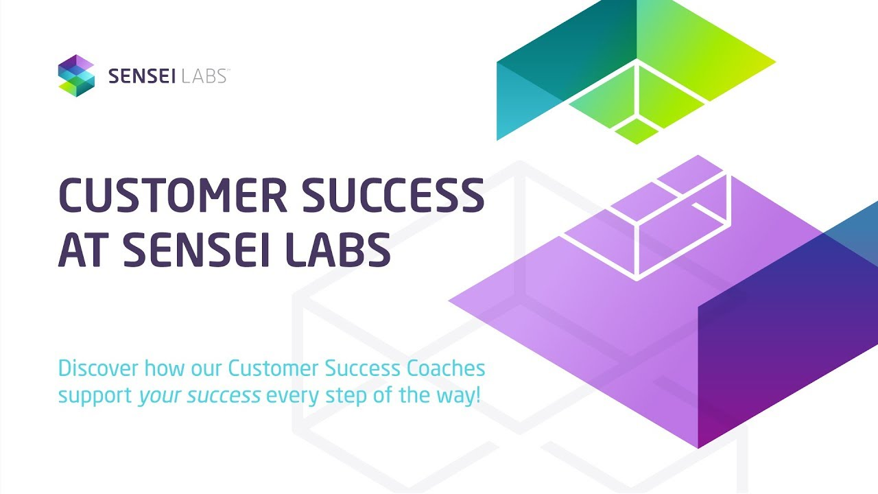 This is a thumbnail link for the 'Customer Success at Sensei Labs' video