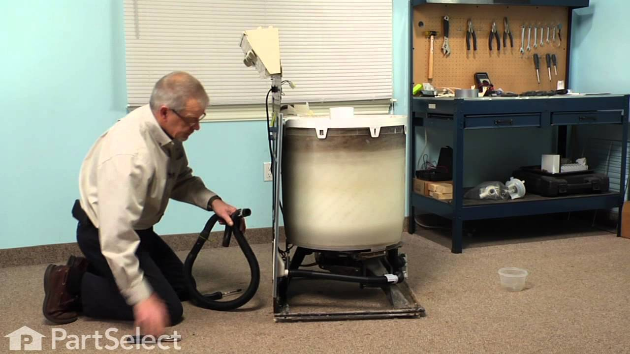 hight resolution of washing machine repair replacing the drain hose whirlpool part w10358149 youtube