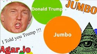 I ate Donald Trump & Illuminati ? - Agar.io Gameplay