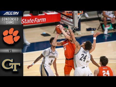 Clemson vs. Georgia Tech Condensed Game | 2020-21 ACC Men's Basketball