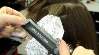 Локоны на фольгу.(Диаметр локона зависит от толщины и количества пальцев)))) Мы парикмахерская студия, в которой можно создат..., 2012-04-27T07:26:24.000Z)