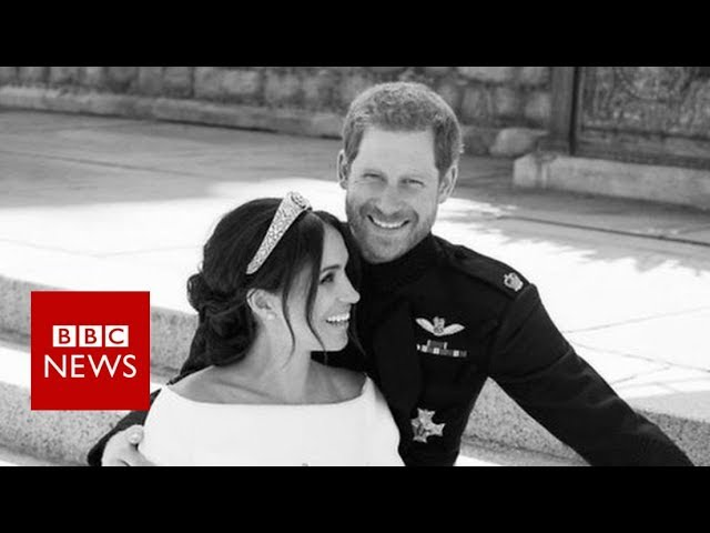 Royal wedding photographer on Meghan and Harry's 'beautiful moment' - BBC News