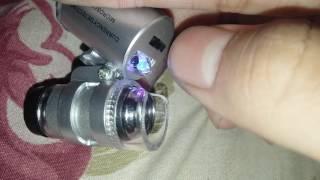 MINI MICROSCOPE TESTER 60X.