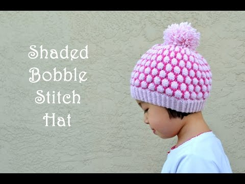 5c1f96c2882 How to Knit Shaded Bobble Stitch or Blister Stitch - YouTube