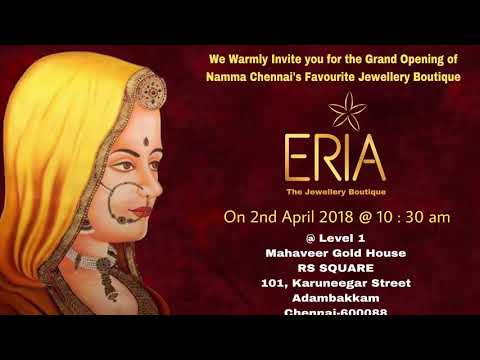 The GRAND OPENING of ERIA- THE JEWELLERY BOUTIQUE