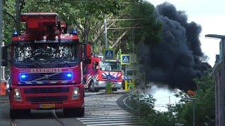[GRIP 1] Zeer Grote Brand in woning Rotterdam-West – Hulpdiensten met spoed onderweg!