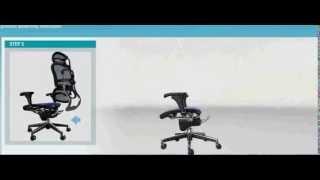 巧迪Ergohuman111人體工學網椅組裝教學