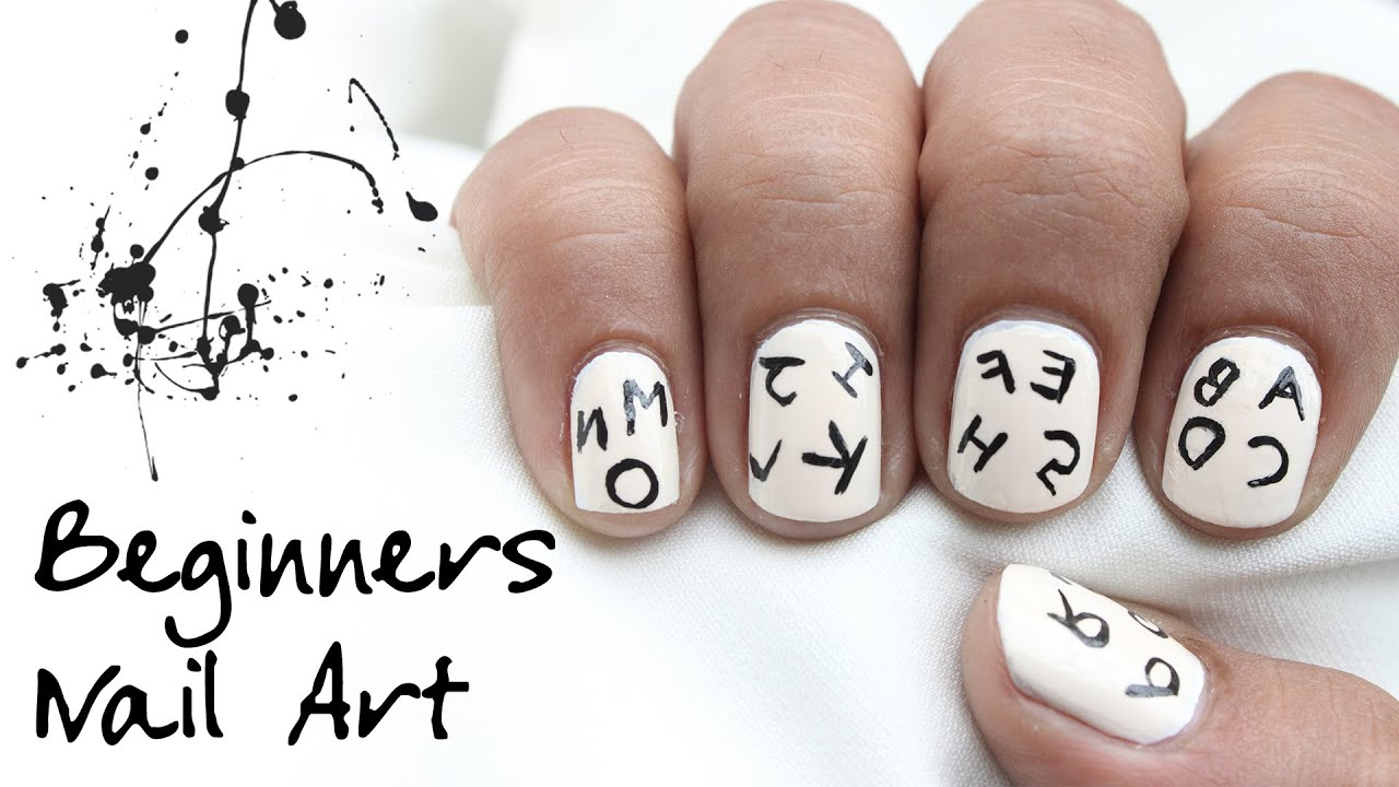 Alphabets short nail art l easy nail design for beginners kids alphabets short nail art l easy nail design for beginners kids prinsesfo Images