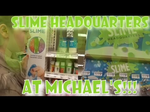 SLIME HEADQUARTERS AT MICHAEL'S!!!! |  SHOPPING FOR FISHBOWL SLIME SUPPLIES!!! | VLOG