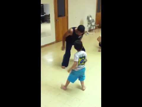 Bujao playing Capoeira at 4 years old