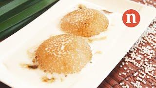 Sago Pudding With Gula Melaka (palm Sugar)