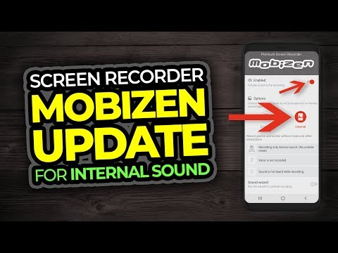 Mobizen Screen Recorder App For Android - Internal Sound Update