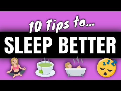 10 Tips for Better Sleep | PE Buddy