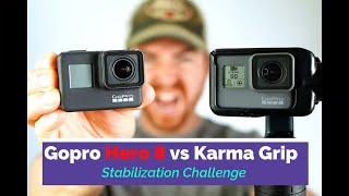 GoPro Karma Grip vs Hero 8 Black Stabilization Challenge.