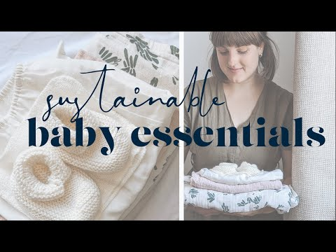 low waste baby essentials | minimal, sustainable mama | aboderie - YouTube