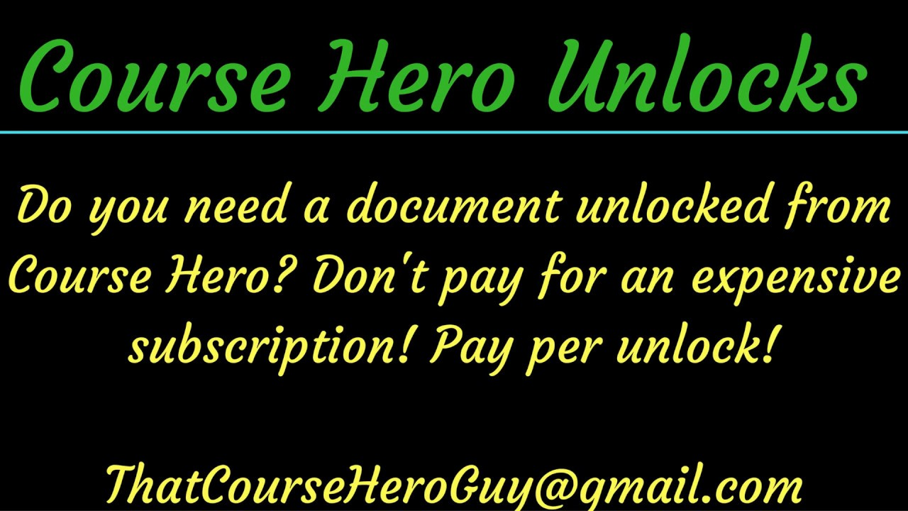 Textsheet For Course Hero