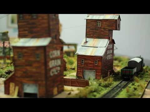 Model railroad print out scenery