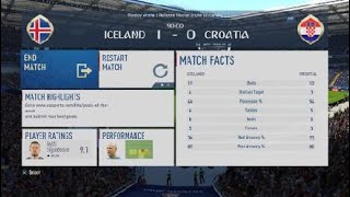 #40 Fifa World Cup 2018 !!!!!!!!! Iceland vs Croatia  !!!!!!!!! FULL MATCH !!!!!!!!