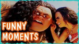 MOANA and MAUI FUNNY MOMENTS - Disney Family Movie