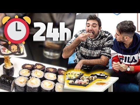 MANGIO PER 24 ORE SOLO SUSHI 🍣