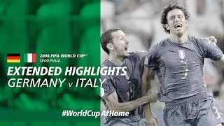 WorldCupAtHome Germany v Italy 2006 Extended Highlights