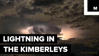 Footage Captured of Electrical Storm in Australia